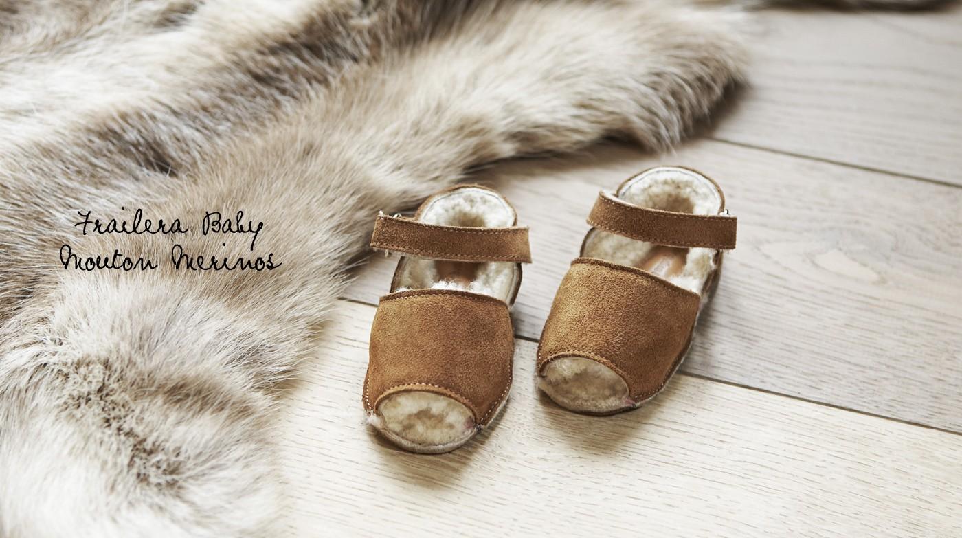 chausson bébé mouton merinos